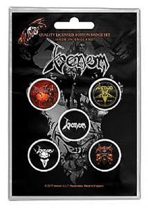 Venom Black Metal  5 Pin Badges in Pack (rz)